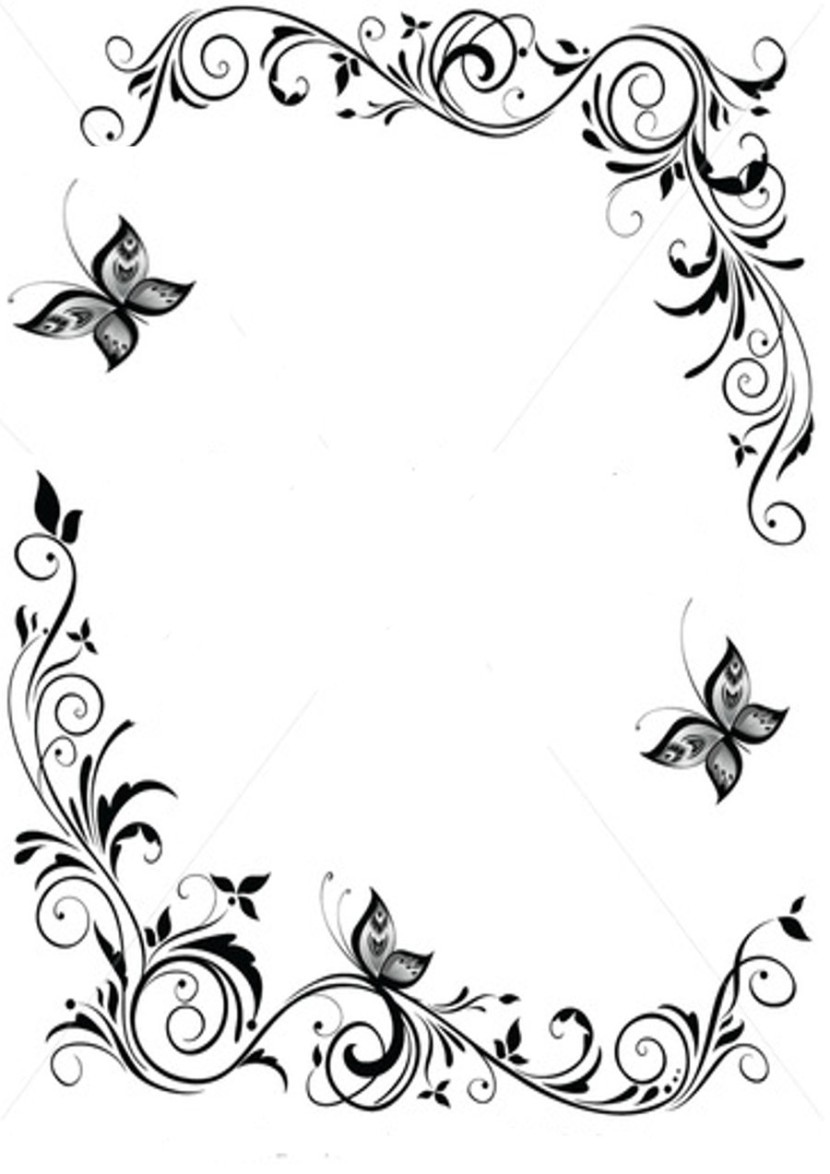 Free Clipart Black And White Borders on Swirl Border Stencil