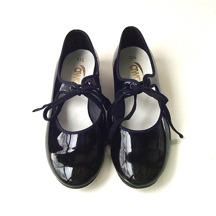 Vintage Black Patent Tap Shoesskinnyandbernie On Etsy