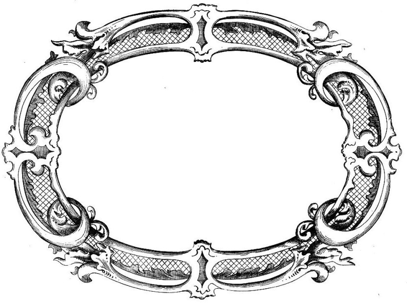 Vintage Clip Art Fancy Frame The Graphics Fairy
