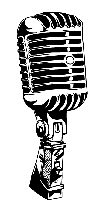 Microphone Clipart - Clipartion.com  Microphone Clipart Black And White