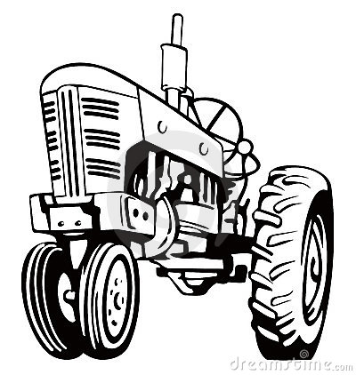 Vintage Tractor Clip Art Stock Images Image