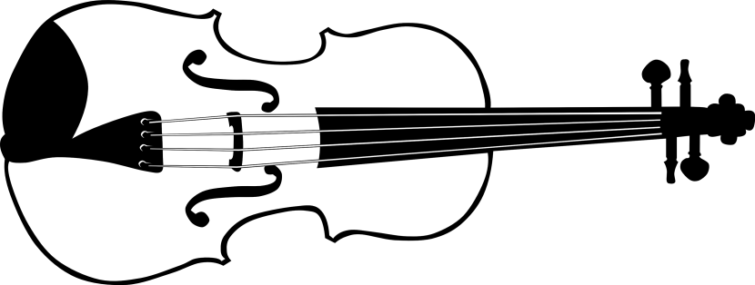 Violin Clipart Black And White Free Clipart Images