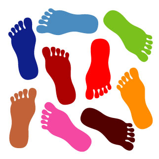 Walking Feet Clip Art