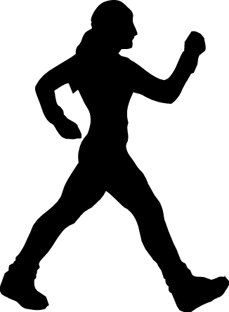 Walking walking-feet Clip Art