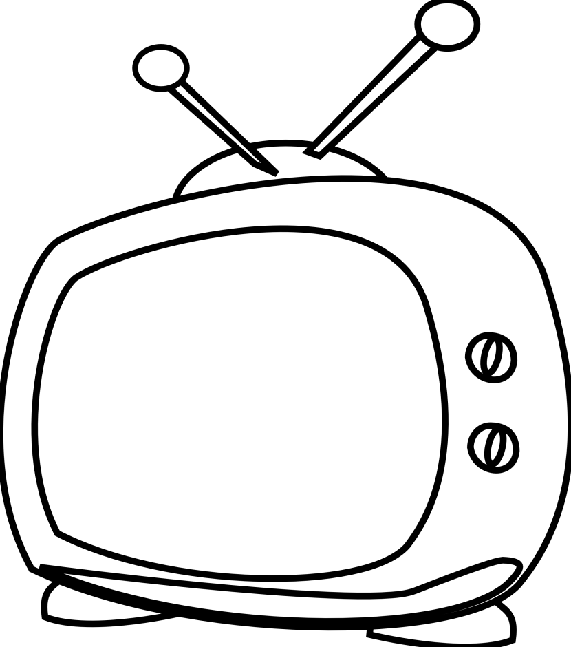 Watching Tv Clipart Black And White Free Clipart