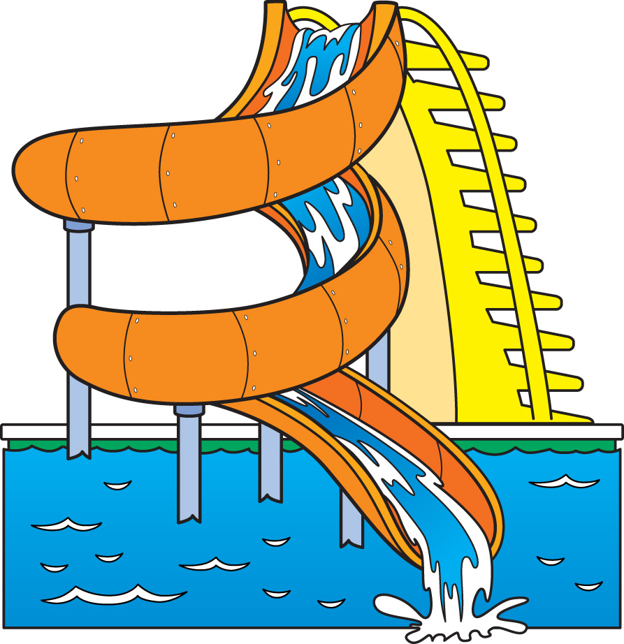 Best water slide clip art 12686 How to draw swimming pool water
