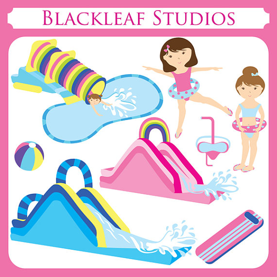 Water Slide Party Clipart Free Clip Art Images
