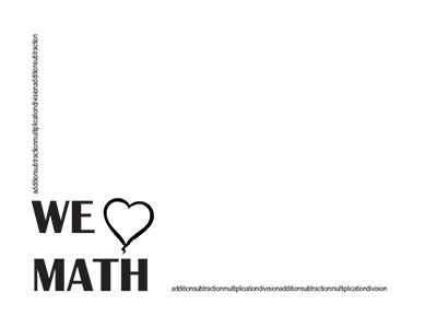 We Love Math Landscape Blank Teacher Clipart Bordersteacher