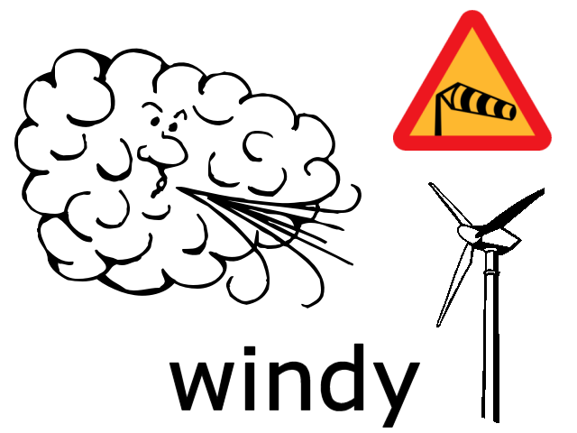 Windy Weather Symbols