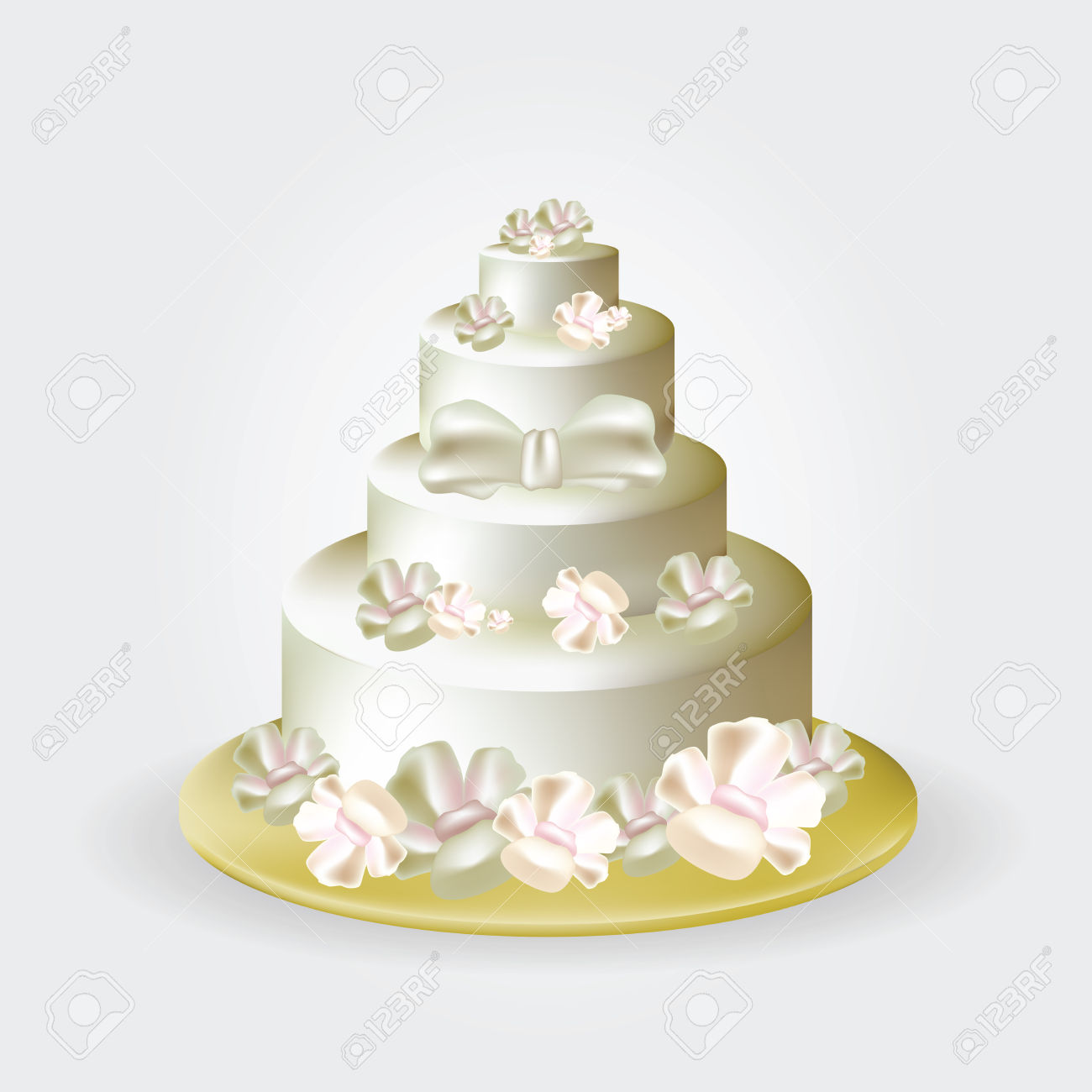 Wedding Cake Clip Art Illustration Royalty Free Cliparts