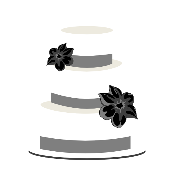 Wedding Cake Greyscale Clip Art At Vector Clip Art