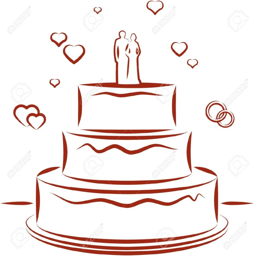 Wedding Cake Vector Illustration Royalty Free Cliparts Vectors