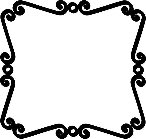 Wedding Clip Art Black And White Border Free