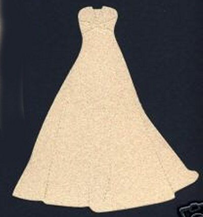 Wedding Dress Outline 4