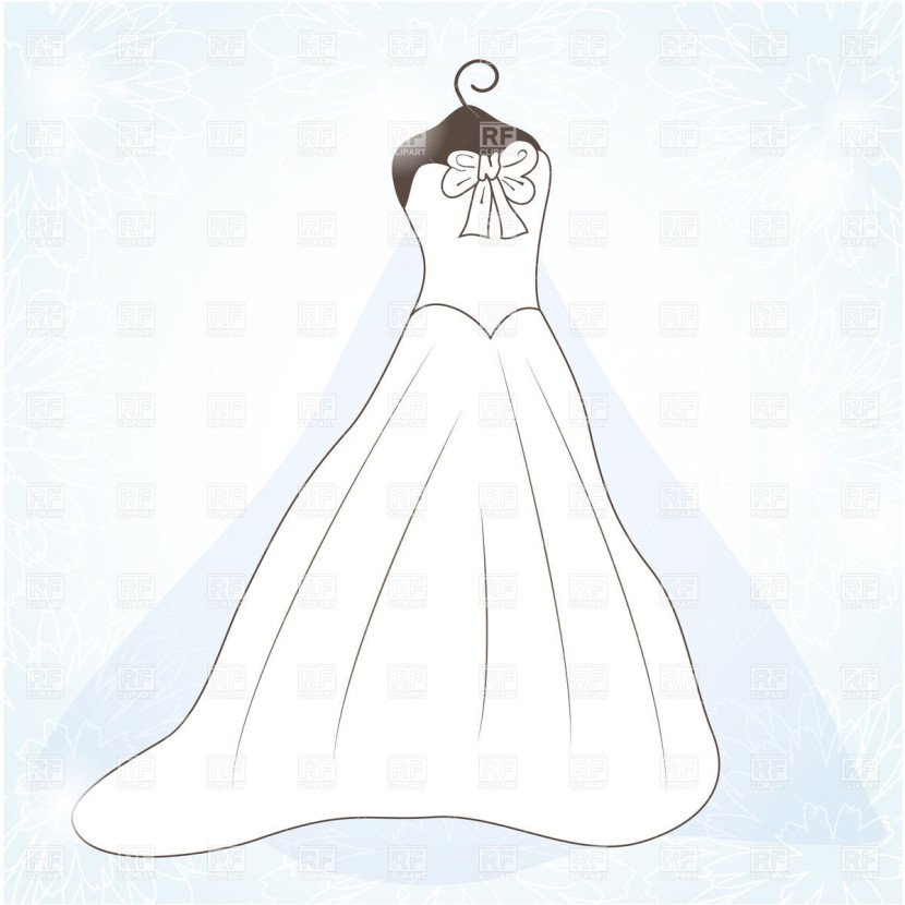 wedding gown clipart free - photo #39
