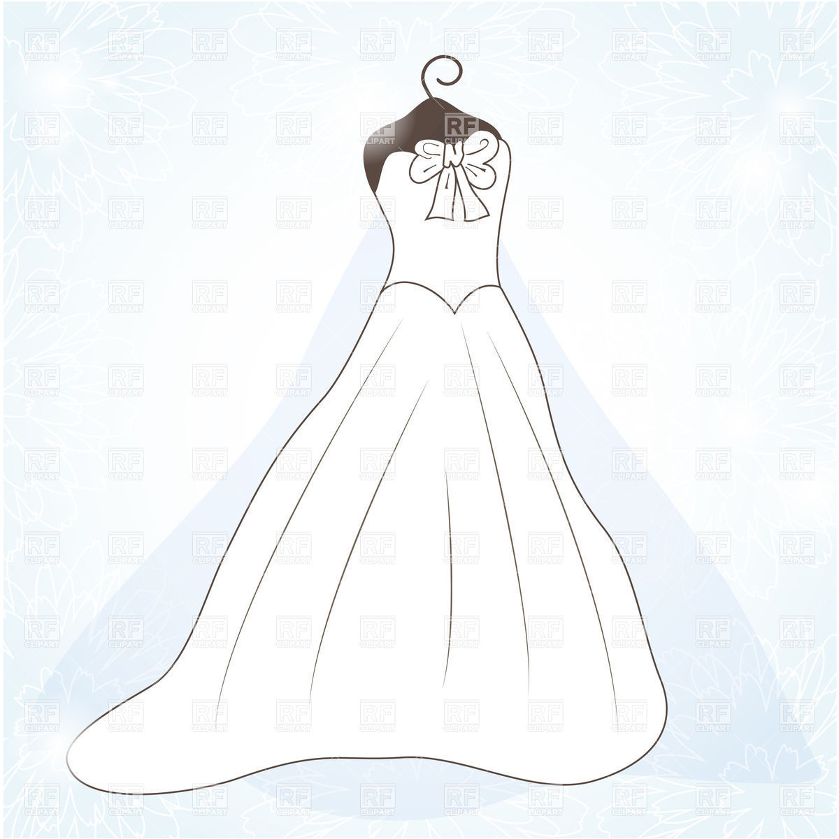 Wedding Dress Outline Clip Art Free