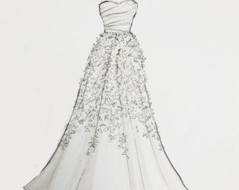 Wedding Dress Outline Images