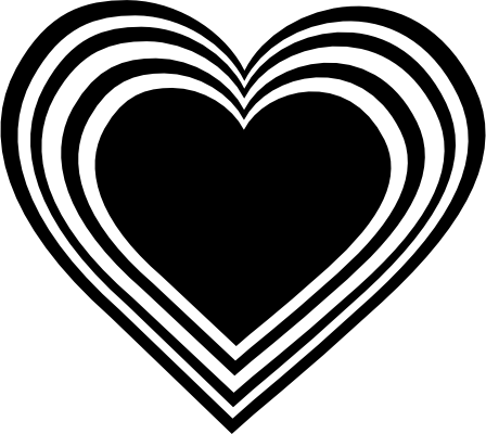 Wedding Hearts Clipart Black And White Free