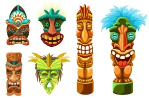Weird Tiki Face Free Vector 3kb Clipart Free Clip Art Images