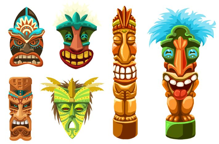 Tiki Clipart Weird Tiki Face Free Vector 3kb Clipart Free Clip Art Images