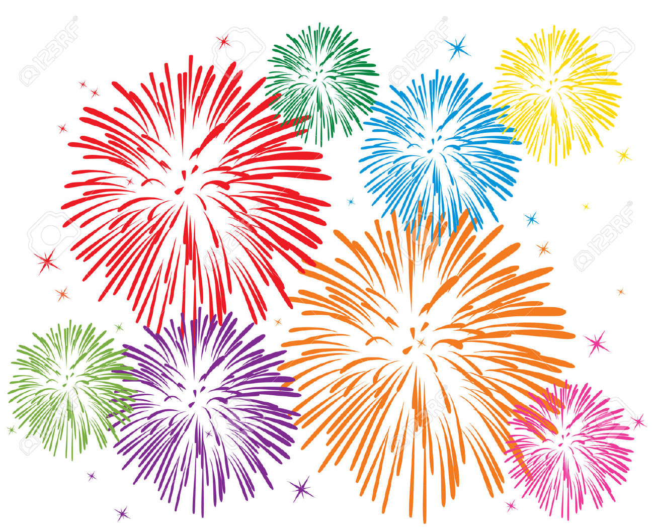 White Fireworks Stock Vector Illustration And Royalty Free White