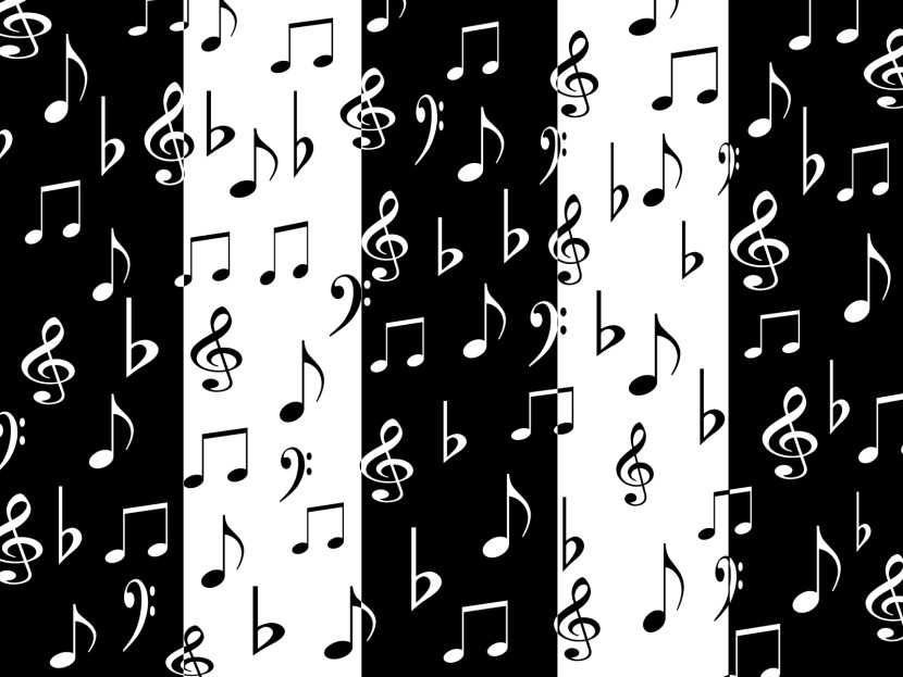 White Music Note On Black Background Picture Gallery