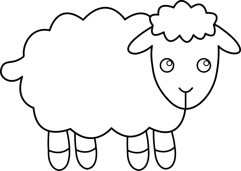 White Sheep Clipart Free Clipart Images