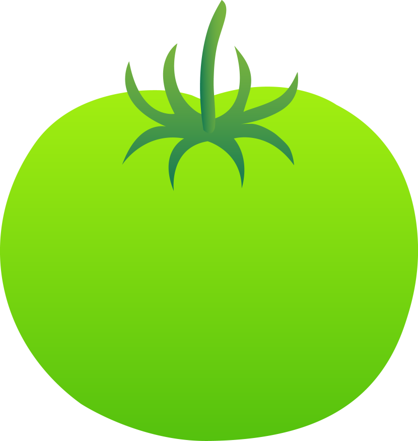 Whole Bright Green Tomato Free Clip Art