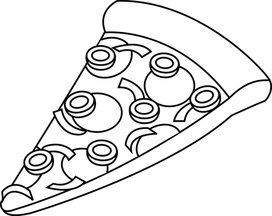 Whole Pizza Clipart Black And White Free Clipart