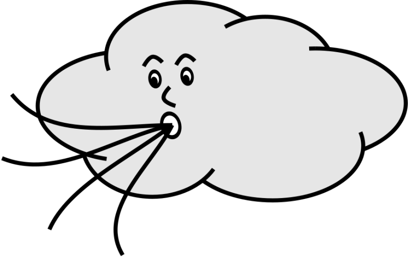 Windy Clipart Black And White Free Clipart Images