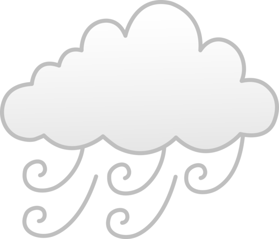 Windy Or Foggy Weather Free Clip Art