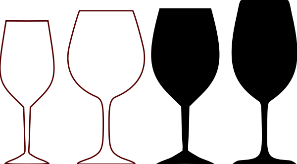 Wine Glass Silhouette Clipart Free Clip Art Images