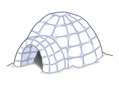 Winter Chill Igloo Coloring Pages