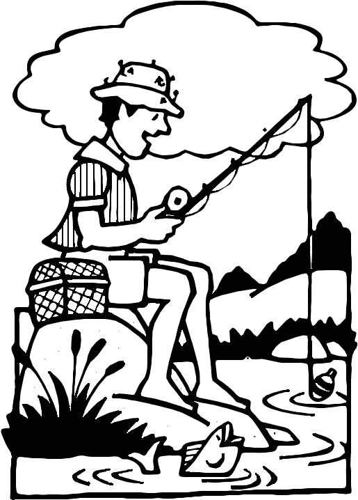 Woman Fishing Clipart Free Clipart Images
