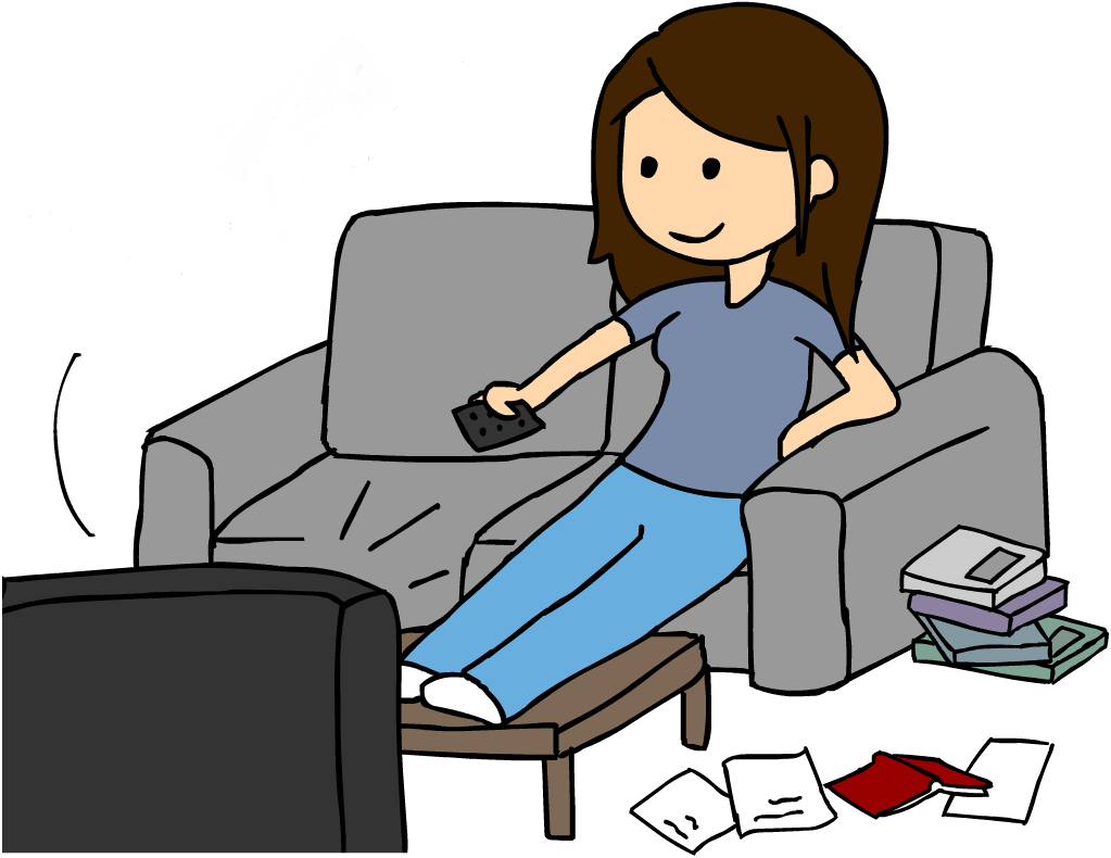 Woman Watching Tv Clipart Free Clipart Images