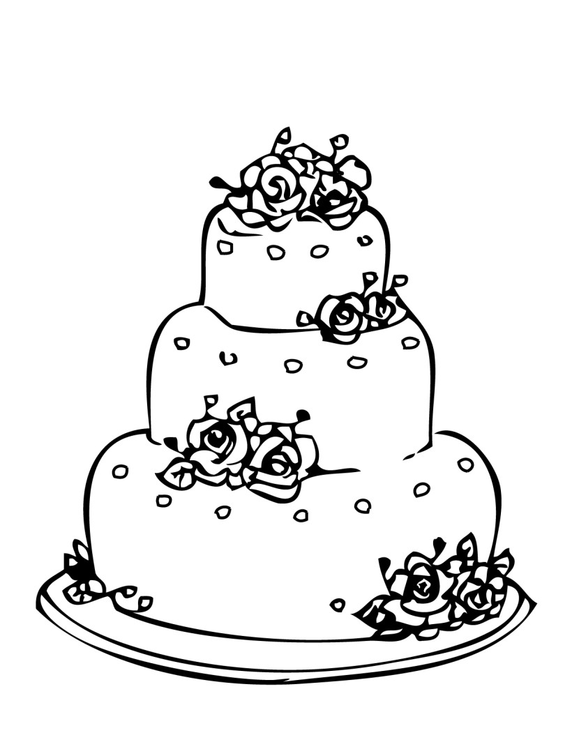 Wonderful Wedding Cake Coloring Pages Spectacular Uncategorized