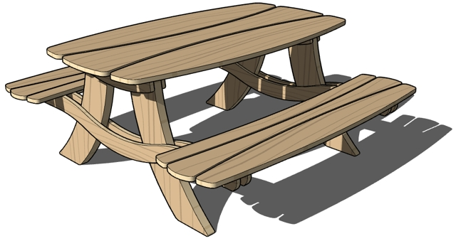 Best Picnic Table Clipart #16165 - Clipartion.com