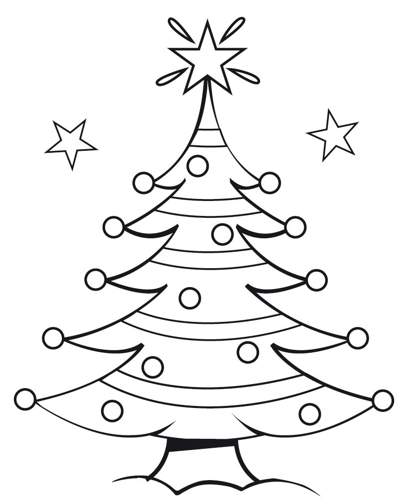 Christmas Tree Outline - Clipartion.com
