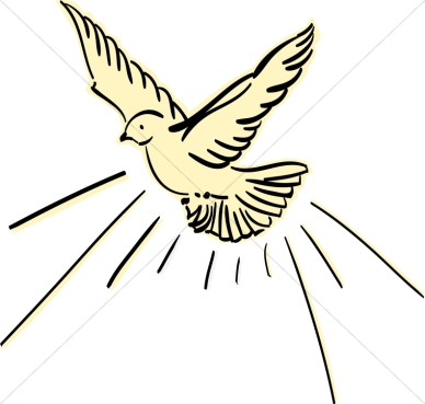 Yellow Dove Flying Dove Clipart