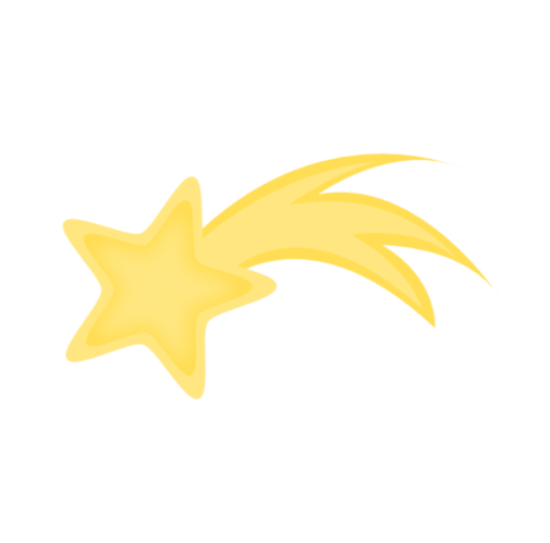 Yellow Shooting Stars Clipart Gallery