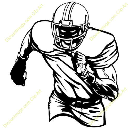 Youth Football Player Free Clipart Free Clip Art Images