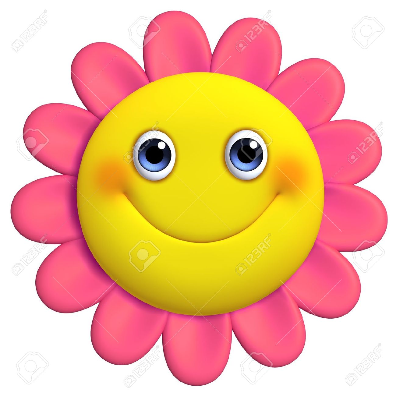 3d Cartoon Cute Flower Picture And Free Image