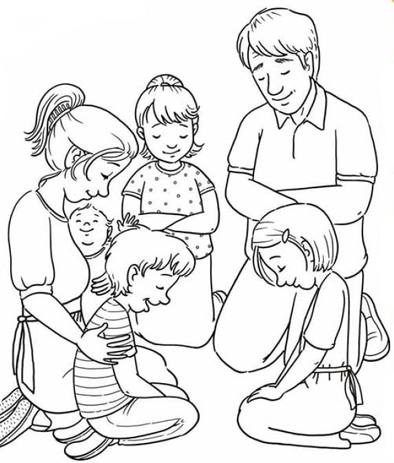 lds boy and girl praying clipart | Logo More