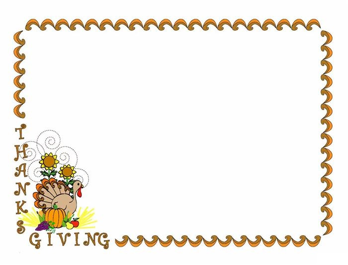 Animated Free Thanksgiving Black And White Clipart Borders Happy