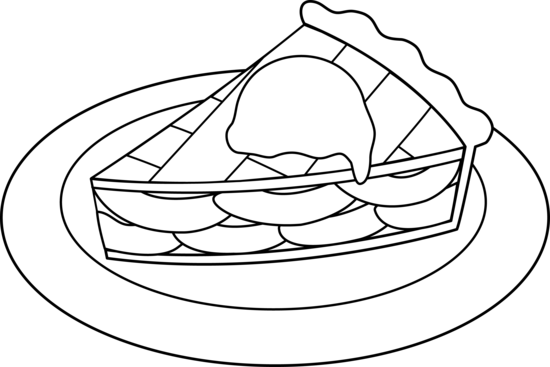 Pie Clipart Black And White Clipartion