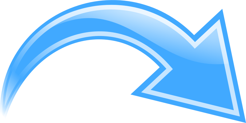 Arrow Curved Blue Png