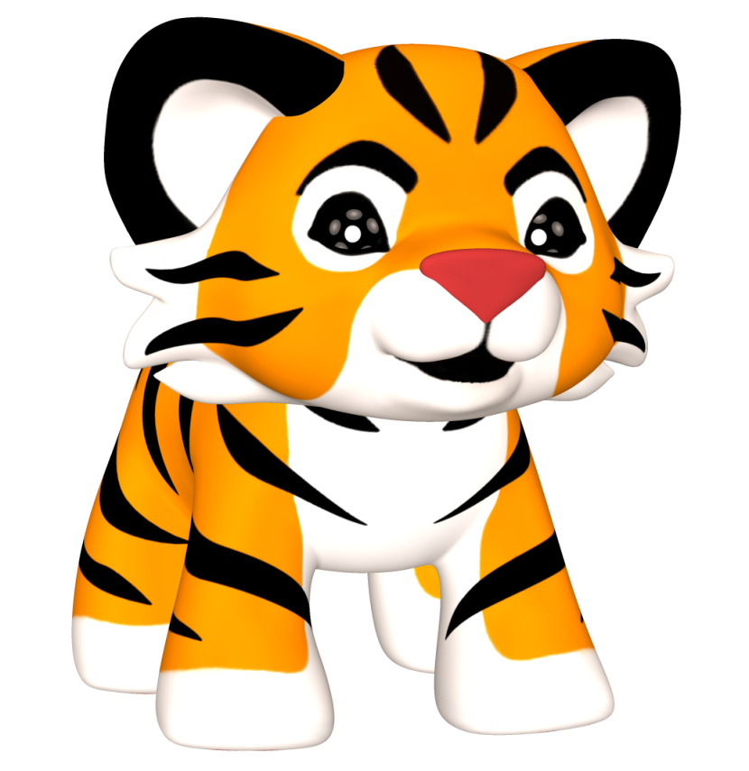 Baby Tiger clipart png