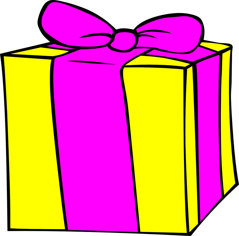 Birthday Present Clipart Black And White Free
