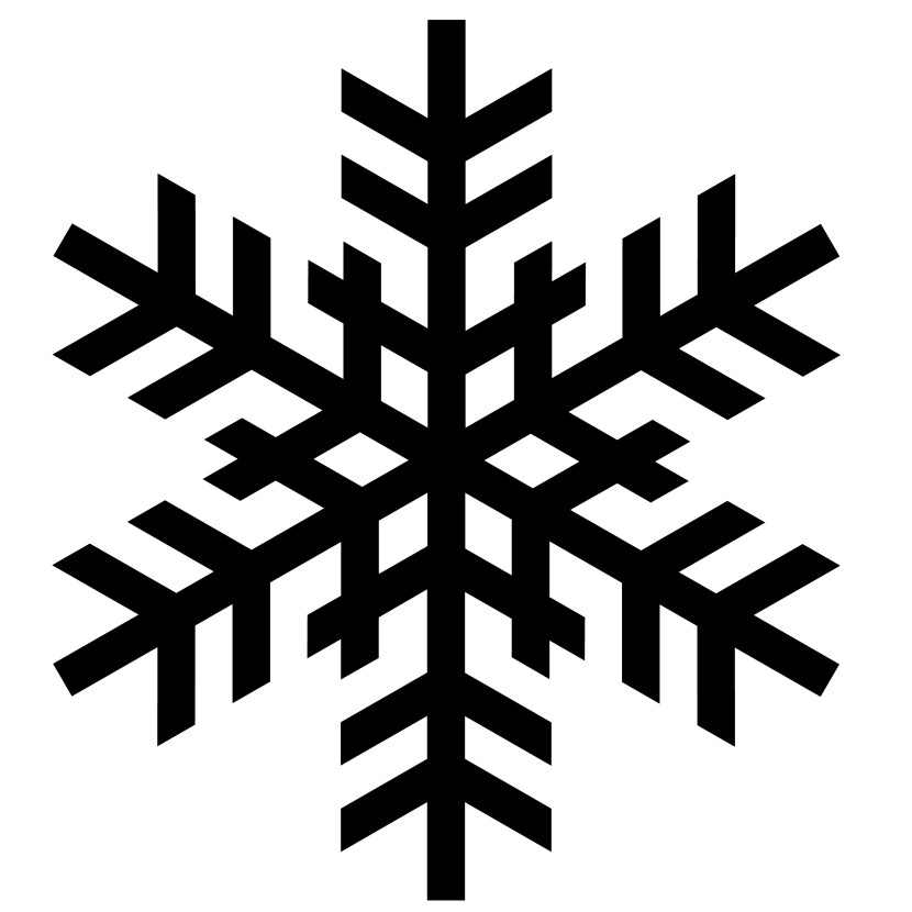 Best Black And White Snowflake #24381 - Clipartion.com