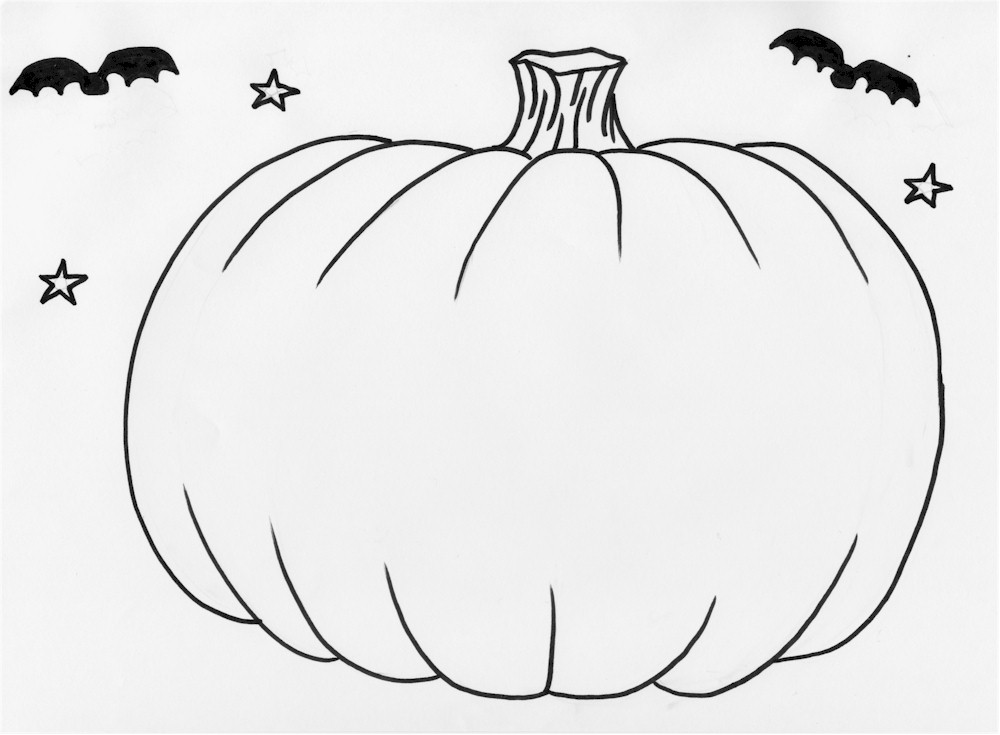 printable blank pumpkin coloring pages - photo#5